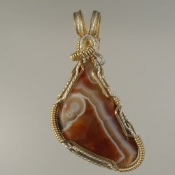 Laughing Face Lake Superior Agate Pendant