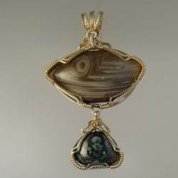 March of Unusual Lake Superior Agate Pendant