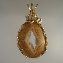 Crystal Shadow Queensland Agate Pendant