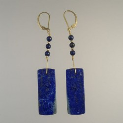 Long Lapis Earrings