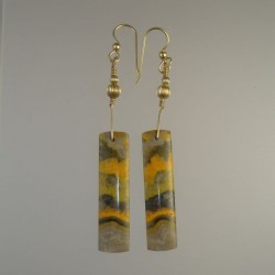 Bumblebee Jasper Earrings on Gold Fill