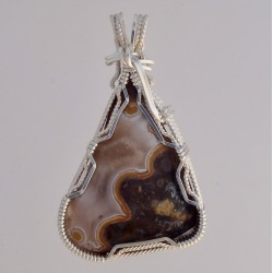 Banded Steel Iron Lace Agate
