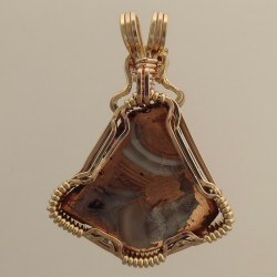 Copper Agate Swirling Skirt Pendant