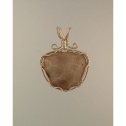White Charm Petoskey Stone Pendant