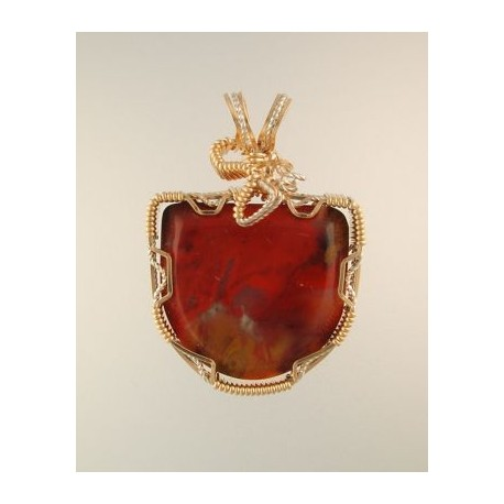 Flame red petrified wood pendant snob appeal jewelry flame red petrified wood pendant aloadofball Images