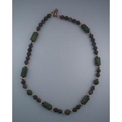 Michigan Petoskey Stone and Epidote Necklace