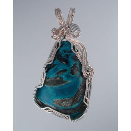 Sunshine blue chrysocolla pendant snob appeal jewelry sunshine blue chrysocolla pendant mozeypictures Images
