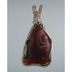 Ruby King Lake Superior Agate Pendant